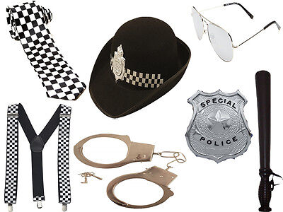 New Girls Women Policewoman Set Cop Fancy Dress Police Hat Hen Party Costume Kit