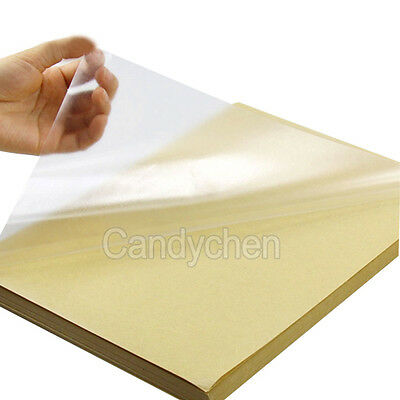 10Pcs Clear Transparent A4 Film Sticker Paper Self Adhesive For Laser Printer