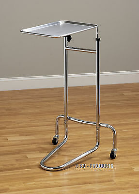 Brand New Mobile Mayo Doctor Medical Instrument Stand Tray Table - 222