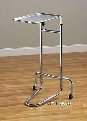 New Mobile Physician Surgical Mayo Instrument Stand with Tray - 222