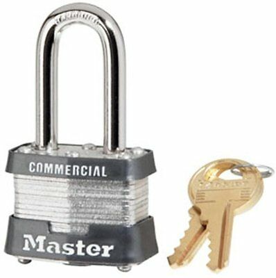 Master Lock 3KALF Commercial Padlock with Keys, 1-1/2-inch, New, Free Shipping