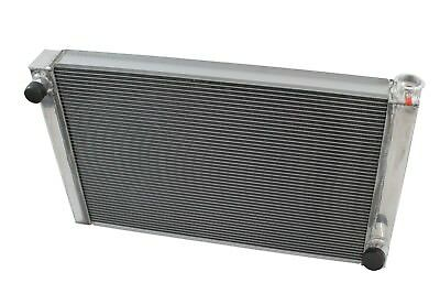 "Dirt Oval All Aluminum Racing Radiator 19""x26"" Chevy 2 Row Single Pass IMCA"