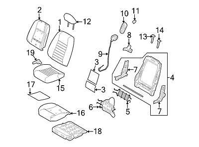 Ford OEM Headrest CR3Z63611A08CA Image 12