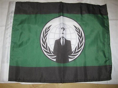 Anonymous Anon Crest Hand Flag 15×12″ Anon 4Chan /b/ we are legion