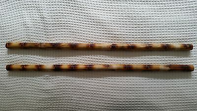 2 Quality Burned Rattan Filipino Escrima Arnis Kali Sticks Fighting Striking