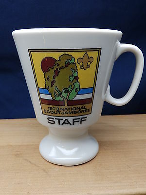 Vintage Rare Collectable Boy Scout Coffee Cup 1973 National Scout Jamboree STAFF