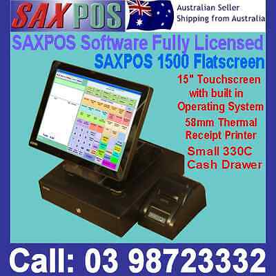 SAXPOS 1500 NEW Flat Touchscreen POS System Point of Sale + Hospitality & Retail