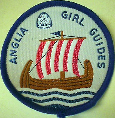 Anglia, England Large Girl Guide Badge-Patch, Viking Motif  - New