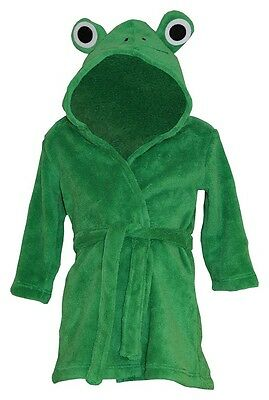 Frog Baby Bath Robe. Novelty Hooded Design Age 18-24 Months Great Baby Gift Idea