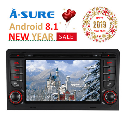 3G DVD Sat Nav GPS Player for AUDI A3 Radio  RDS  Bluetooth Stereo S3