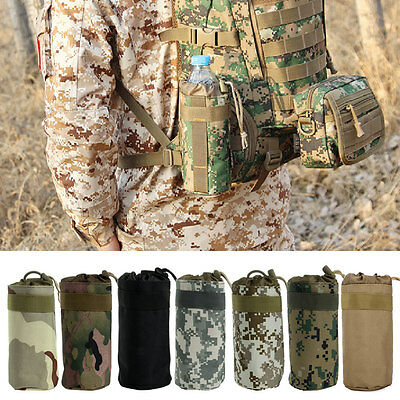 Outdoor Tactical Military System Water Bottle Bag Kettle Pouch Holder Bag New