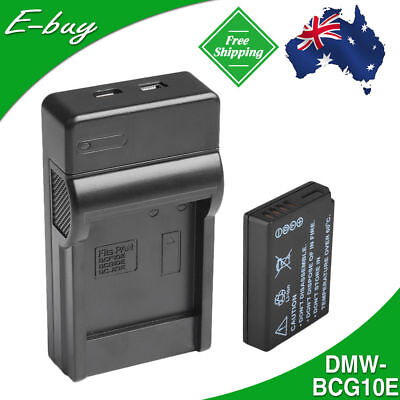 1x DMW-BCG10E Battery+Charger for Panasonic Lumix  DMC-TZ20 TZ7 TZ9 TZ10 ZS3 ZR1