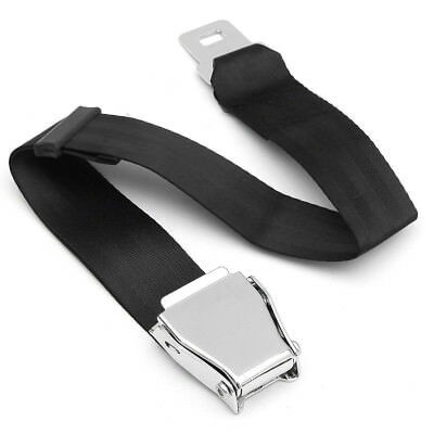 Adjustable Aircraft Airplane Airline Seat Belt Extension Extender Buckle Black