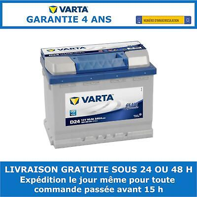 Varta D24 Batterie de Voiture - 60Ah 12V 540A - Avec Indicateur de Charge