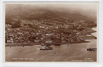 LARGS FROM THE AIR: Ayrshire postcard (C17291)