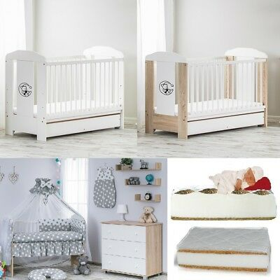 12-Pcs Complete Set Includes 10-Pcs Bedding + Baby Cot + Mattress + Container