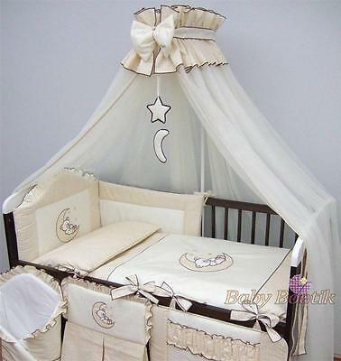 LUXURY BABY CANOPY/ DRAPE 480cm WIDTH + HOLDER  Fit COT/ COT BED - Cream/M
