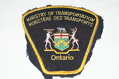 Canadian Ontario Ministry Of Transportation Ministere des Transports Patch 1