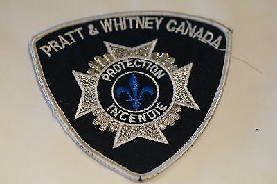 Canadian Pratt & Whitney Quebec Private Fire Protection Incendie Patch