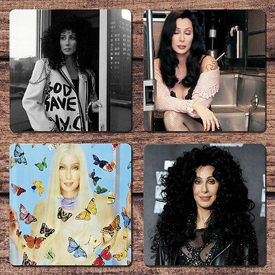 Cher Coaster Set NEW If I Could Turn Back Time Living Proof Song for the Lonely