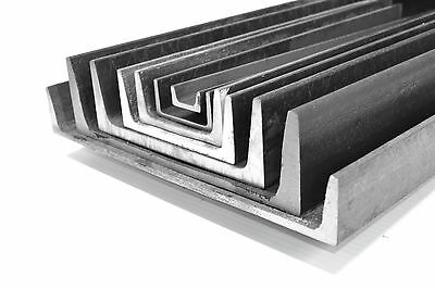 "2 x 1 x 3/16"" Channel Iron,  Mild Steel  4 pieces 12"" A-36 UPS Shipping"