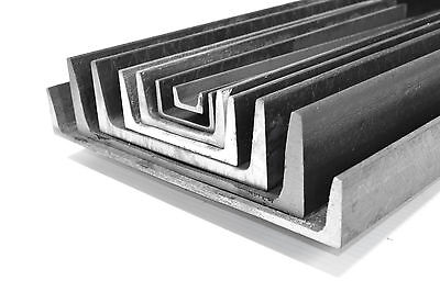 """4 Pieces - 2 x 1 x 3/16"""" x 12"""" A36 Mild Steel Steel Channel Iron. Ships UPS"""