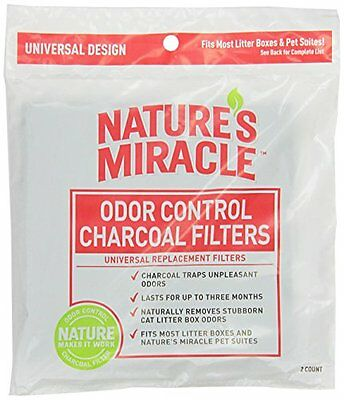 Nature's Miracle Odor Control Universal Charcoal Filter 2-Pack NO TAX FREESHIP
