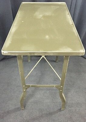 Folding Surgical Instrument & Dressing Table Military MASH Green Good Condition