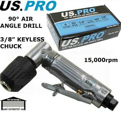 "BERGEN Tools Air Angle Drill 3/8"" Keyless Chuck NEW 8201"