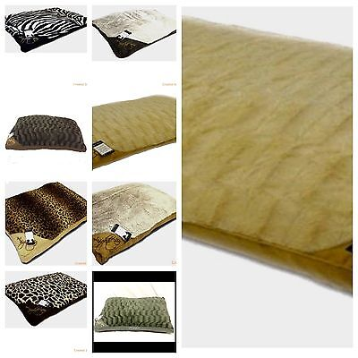 Luxury LARGE & Extra Large Luxury Fur Dog Bed Cushion Washable Zipped Mattress