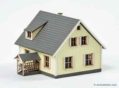 Archistories Z Scale 408111 Small Yellow House Building Kit *NEW $0 SHIP
