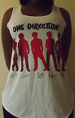 6d51293f6 ONE DIRECTION T-Shirt Vest TOP Ladies Women Girls HARRY STYLES ZAYN MALIK 1D