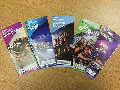 Walt Disney World Park Maps: 150 Maps - Great For Crafts Or Memory Books