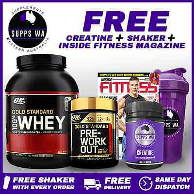 Optimum Gold Standard Stack - 5lb 100% Whey Protein + Gold Standard Pre