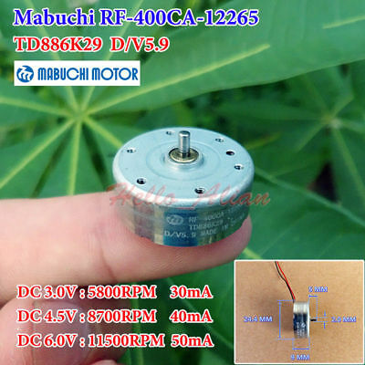 MABUCHI Motor RF-400CA-12265 DC1-6V 4000RPM Micro Motor for car CD DVD DIY Parts