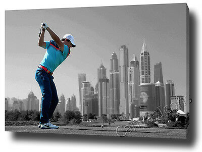 Rory Mcilroy 2016 Canvas Print Poster Photo Wall Art Golf Masters Open Dubai