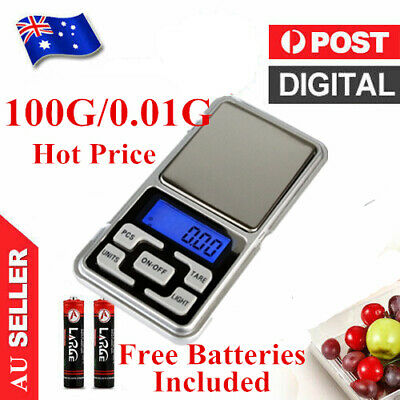 500g 0.1g Mini Pocket Electronic Digital Weight Scale Jewellery Lab FREE Battery
