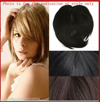 Synthetic Easily Wearing Clip In Hair Top Hair Piece
