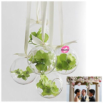 8cm Hanging Glass Flowers Plant Vase Stand Holder Terrarium Container Hot OT