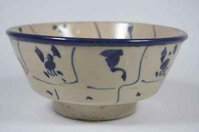 Antique Chinese Qing Dynasty Blue And White Bowl