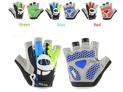 Fashion Bicycle Half Finger Silicone Cycling Gloves MTB Riding Sport Gloves :FE