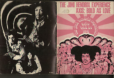 Spartito Sheet Music The Jimi Hendrix Experience Axis: Bold As Love 1968 32 Page