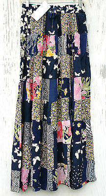 Wholesale Lot 50 NEW Patch Skirts OSFM One-of-a-king Draw String Long Rayon $7