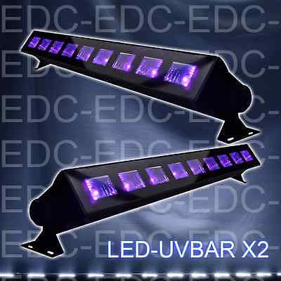 Pack De 2 Barres  Led Uv 9 X 1W  Lampe Uv Ibiza  Jeu De Lumiere Led Black Light
