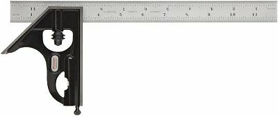 Starrett C33H-12-16R Forged, Hardened Steel Square Head With Satin Chrome Blade
