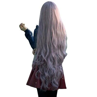 Fashion Long Curly Wavy Hair Full Wigs Cosplay Party Anime Lolita Wig 100cm Gift