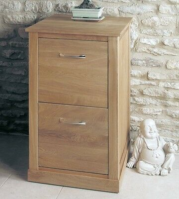 mobel solid oak home office furniture two drawer filing storage cabinet