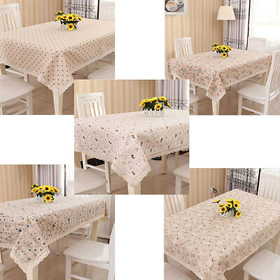 New Vintage Cotton Linen Beige Table Cloth / Table Covers for Home Decor