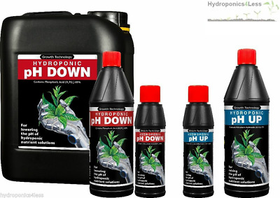 Growth Technology pH Up And Down Solution Aquarium Hydroponics 250ml 1, 5 Litre
