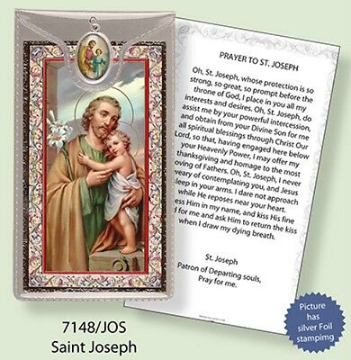 SAINT FRANCIS PRAYER CARD WITH COLOUR MEDAL STATUES CANDLES PICTURES LISTED